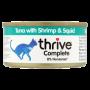 Thrive 天然貓主食罐頭 75g -吞拿魚+海蝦+墨魚